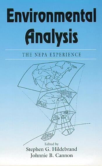 Environmental AnalysisThe NEPA Experience book cover