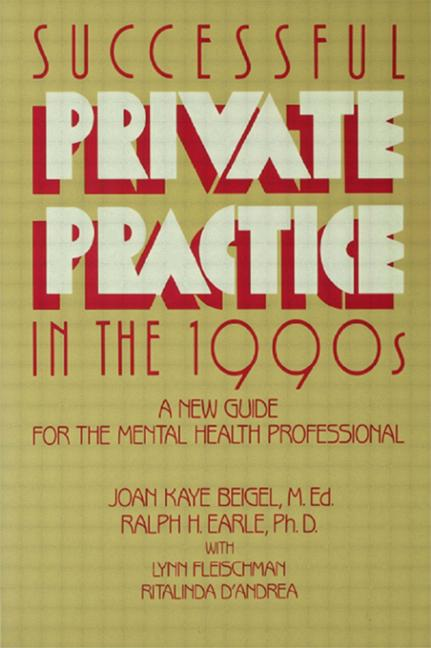 Successful Private Practice In The 1990s A New Guide book cover