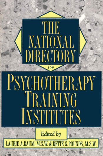 The National Directory Of Psychotherapy Training Institutes book cover