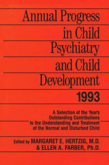 Annual Progress in Child Psychiatry and Child Development 1993 book cover