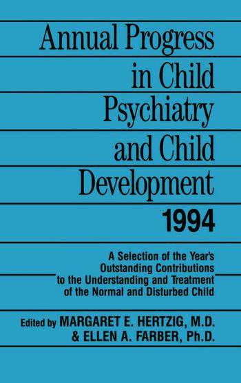 Annual Progress in Child Psychiatry and Child Development 1994 book cover