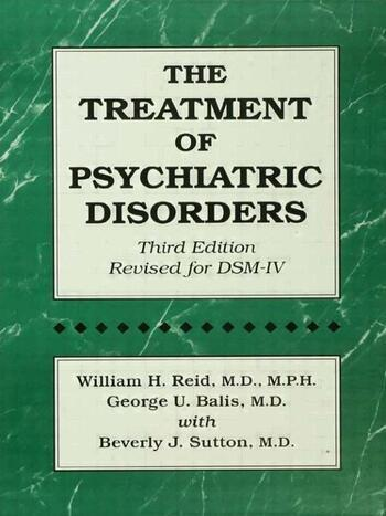 The Treatment Of Psychiatric Disorders book cover