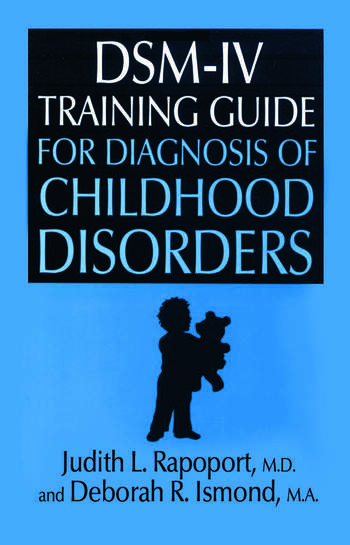 DSM-IV Training Guide For Diagnosis Of Childhood Disorders book cover