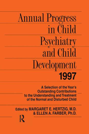 Annual Progress in Child Psychiatry and Child Development 1997 book cover