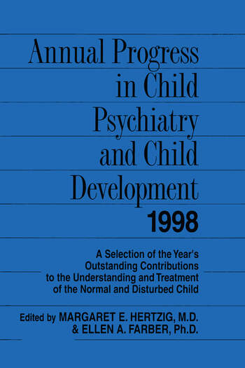 Annual Progress in Child Psychiatry and Child Development 1998 book cover