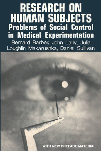 Research on Human Subjects Problems of Social Control in Medical Experimentation book cover