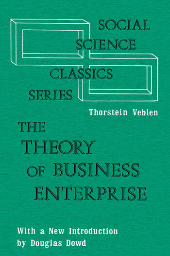 The Theory of Business Enterprise book cover