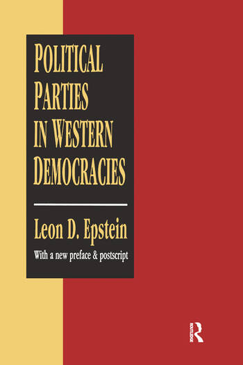 Political Parties in Western Democracies book cover