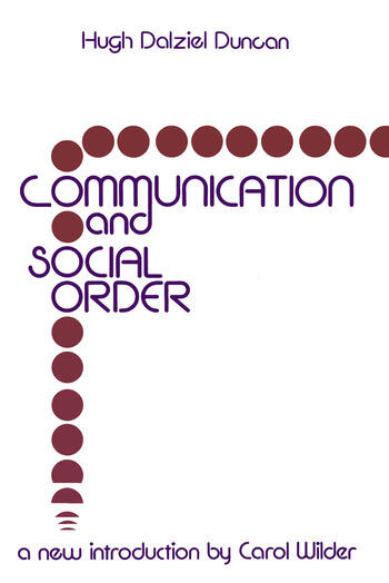 Communication and Social Order book cover