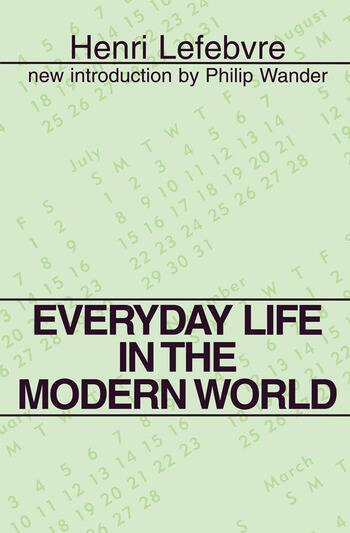 Everyday Life in the Modern World book cover