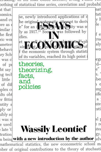 Essays in Economics Theories, Theorizing, Facts and Policies book cover