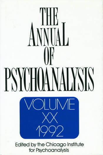 The Annual of Psychoanalysis, V. 20 book cover