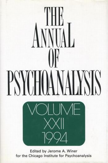 The Annual of Psychoanalysis, V. 22 book cover