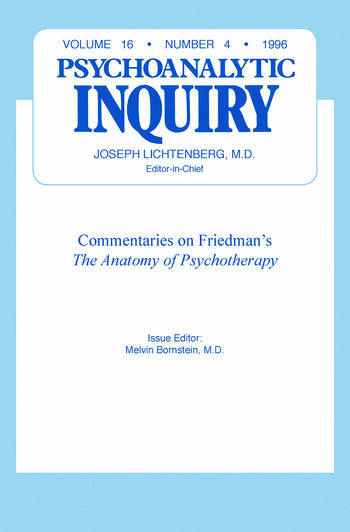 Commentaries Psychoanalytic Inquiry, 16.4 book cover