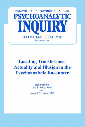 Locating Transference Psychoanalytic Inquiry, 13.4 book cover