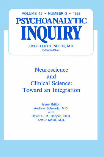 Neuroscience Psychoanalytic Inquiry, 12.3 book cover