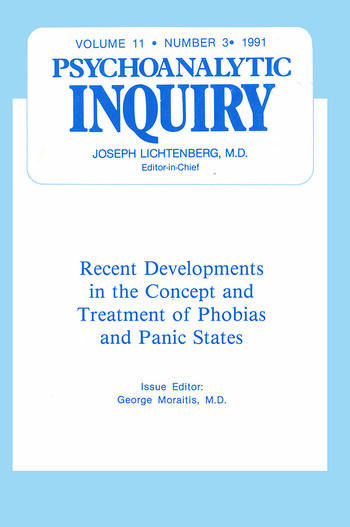 Recent Developments Psychoanalytic Inquiry, 11.3 book cover