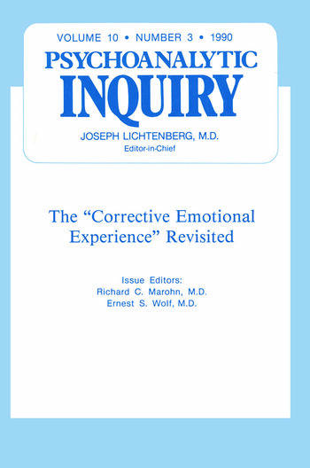 Corrective Psychoanalytic Inquiry, 10.3 book cover