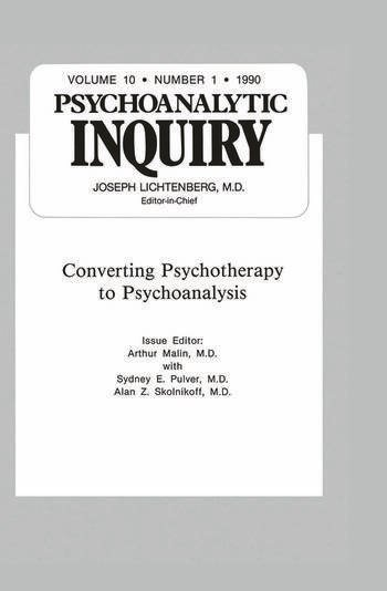 Converting Psychoanalysis Psychoanalytic Inquiry, 10.1 book cover