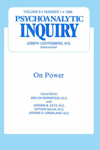 On Power Psychoanalytic Inquiry, 6.1 book cover