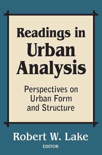 Readings in Urban Analysis Perspectives on Urban Form and Structure book cover