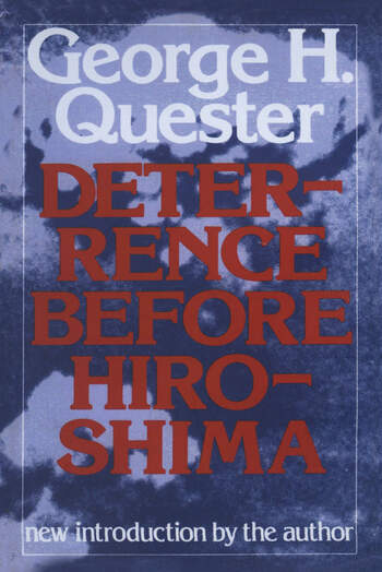 Deterrence Before Hiroshima book cover