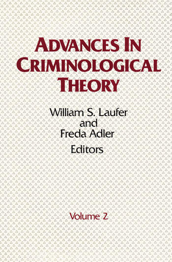 Advances in Criminological Theory Volume 2 book cover