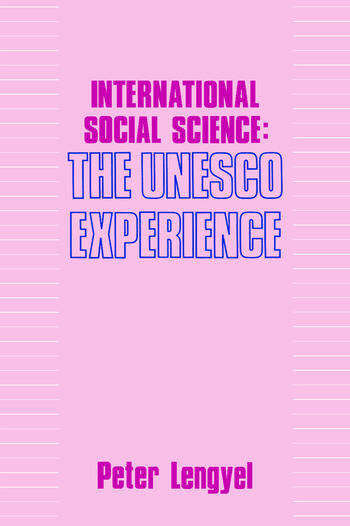 International Social Science Unesco Experience book cover