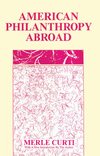 American Philanthropy Abroad book cover