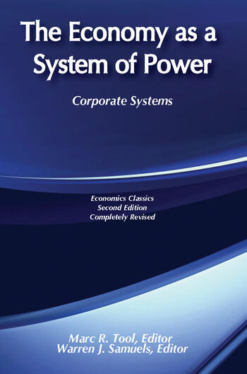 The Economy as a System of Power Corporate Systems book cover