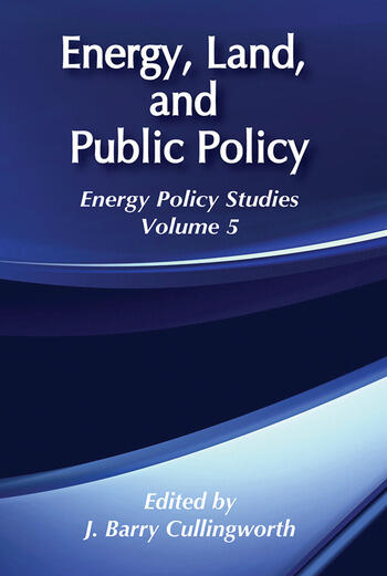 Energy, Land and Public Policy book cover