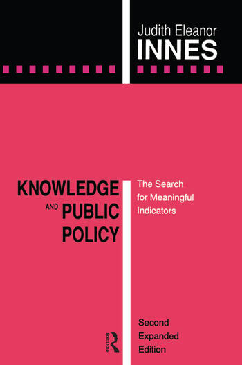 Knowledge and Public Policy The Search for Meaningful Indicators book cover