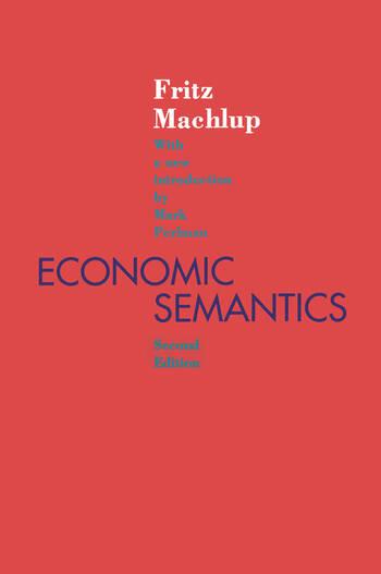 Economic Semantics book cover