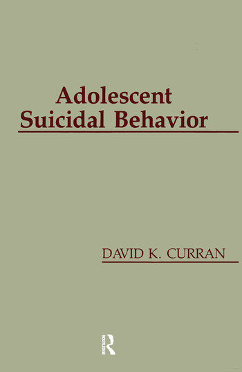 Adolescent Suicidal Behavior book cover