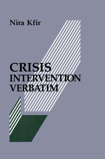 Crisis Intervention Verbatim book cover