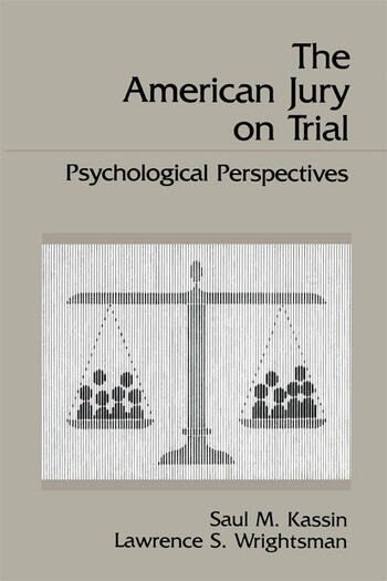 The American Jury On Trial Psychological Perspectives book cover