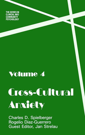 Cross Cultural Anxiety book cover