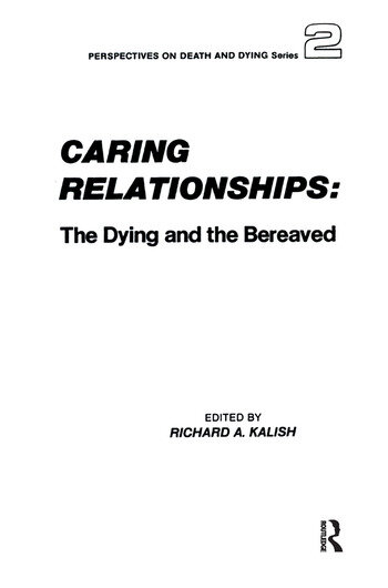 Caring Relationships The Dying and the Bereaved book cover
