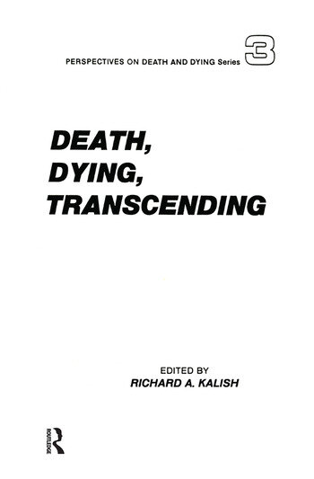 Death, Dying, Transcending Views from Many Cultures book cover