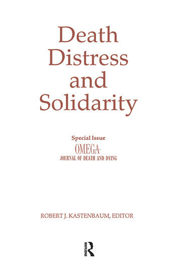 Death, Distress, and Solidarity Special Issue