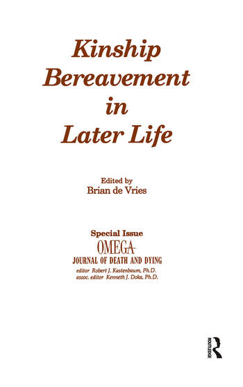 Kinship Bereavement in Later Life A Special Issue of