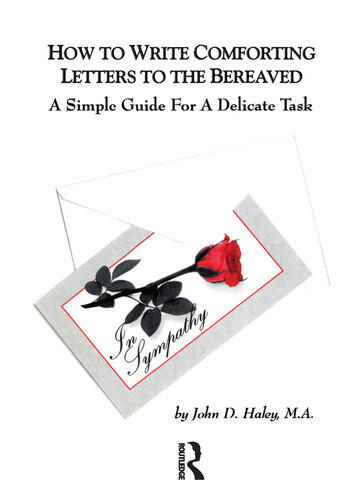 How to Write Comforting Letters to the Bereaved A Simple Guide for a Delicate Task book cover