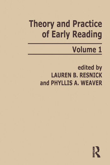 Theory and Practice of Early Reading Volume 1 book cover