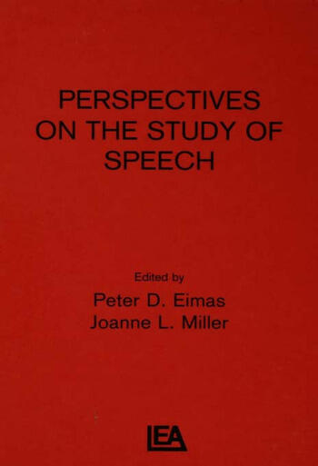 Perspectives on the Study of Speech book cover