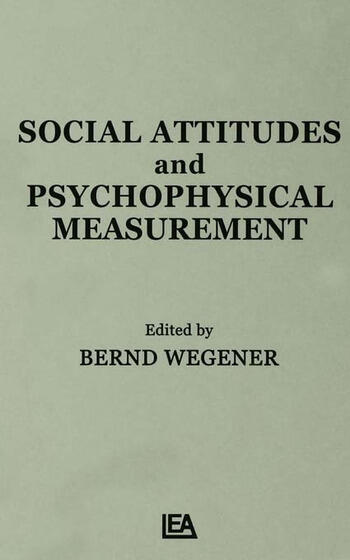Social Attitudes and Psychophysical Measurement book cover