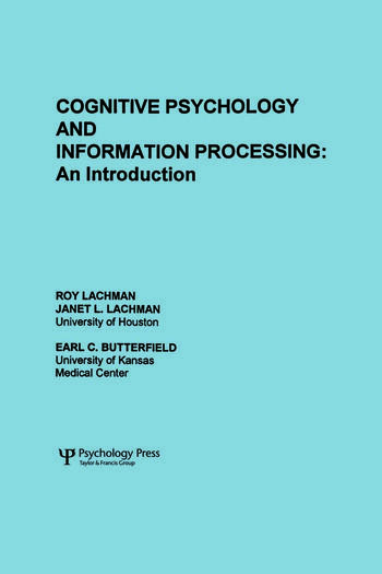 Cognitive Psychology and Information Processing An Introduction book cover