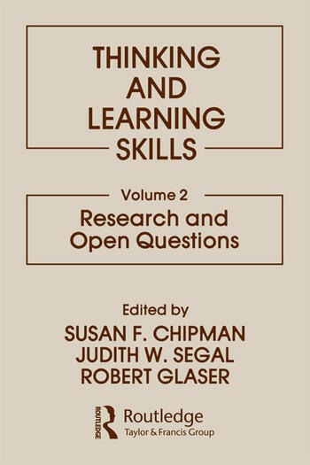 Thinking and Learning Skills Volume 2: Research and Open Questions book cover