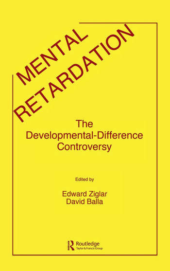 Mental Retardation The Developmental-difference Controversy book cover