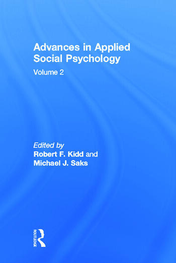 Advances in Applied Social Psychology Volume 2 book cover