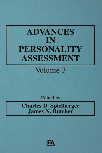 Advances in Personality Assessment Volume 3 book cover